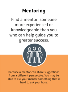 """""""Mentoring"""" solution card from Choose Happiness @ Work game"""
