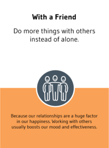 """""""With a Friend"""" solution card from Choose Happiness @ Work game"""